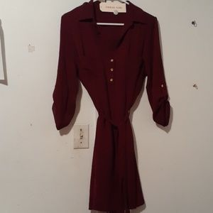 Nwt maroon xl fitted dress